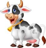 Vaca feliz dos desenhos animados dos desenhos animados Fotografia de Stock