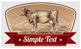 Vaca gráfica Imagen de archivo libre de regalías