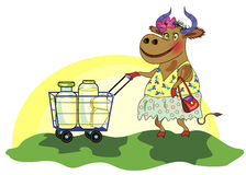 Vaca heerful do ¡ de Ð Foto de Stock