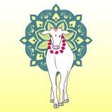 Vaca india stock de ilustración