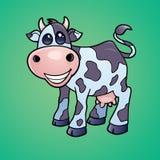 Vaca lechera feliz Imágenes de archivo libres de regalías