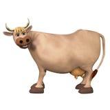 Vaca linda de la historieta 3d Imagen de archivo