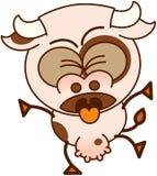 Vaca linda que siente asqueada ilustración del vector