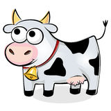 Vaca manchada divertida Imágenes de archivo libres de regalías