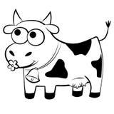 Vaca manchada divertida Imagenes de archivo