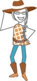 Vaca-menina, vaqueiro ilustração do vetor