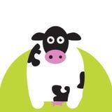 Vaca na grama Ilustração Stock