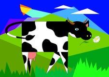 Vaca no prado Foto de Stock
