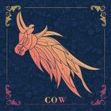 vaca, pintura decorativa Imagens de Stock