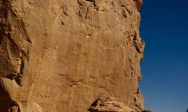 Vaca - pinturas de cuevas y petroglifos en Boumediene, parque nacional del nAjjer de Tassili, Argelia imagenes de archivo
