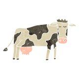 vaca retra de la historieta Imagenes de archivo