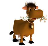 Vaca Shaggy imagens de stock
