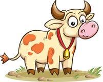 Vaca sonriente de la historieta Foto de archivo