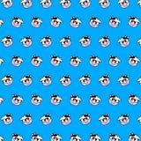 Vaca - teste padrão 59 do emoji ilustração stock