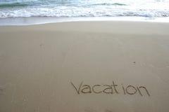 Vacaciones Foto de archivo