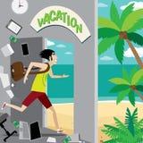 Vacaciones ilustración del vector