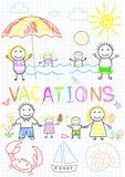 Vacaciones de familia ilustración del vector