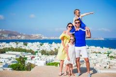 Vacaciones de familia al aire libre en Europa Fotografía de archivo