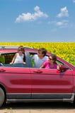 Vacaciones de familia, viaje del coche Imagenes de archivo
