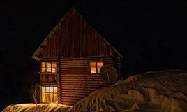 Vacaciones de invierno en las montañas Imagen de archivo