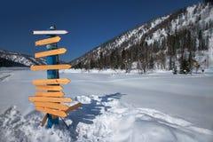 Vacaciones de invierno en las montañas Fotografía de archivo libre de regalías