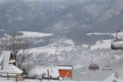 Vacaciones de invierno en Zakopane fotografía de archivo