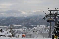 Vacaciones de invierno en Zakopane imagenes de archivo