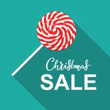 Vacaciones de invierno que ponen letras al cartel con título de la venta de la Navidad libre illustration