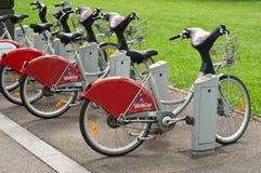 Vacaciones de la bici de la ciudad Imagen de archivo