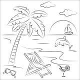 Vacaciones de la playa Imagenes de archivo