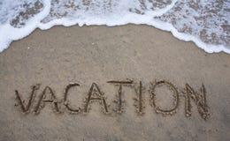 Vacaciones de la playa Foto de archivo libre de regalías