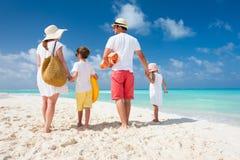Vacaciones de la playa de la familia Fotografía de archivo