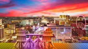 Vacaciones de Las Vegas, relajándose en Vegas fotografía de archivo