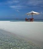 Vacaciones de lujo - los Maldivas fotografía de archivo