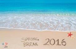 Vacaciones de primavera 2016 en la arena Fotografía de archivo libre de regalías