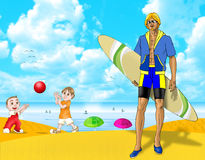 Vacaciones de verano de la diversión Fotografía de archivo