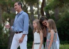 Vacaciones de verano 033 de los royals de España Imágenes de archivo libres de regalías