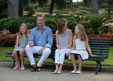 Vacaciones de verano 035 de los royals de España Foto de archivo