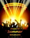 Vacaciones de verano del partido ilustración del vector