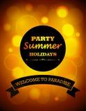 Vacaciones de verano del partido stock de ilustración