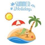 Vacaciones de verano en la playa Imagen de archivo