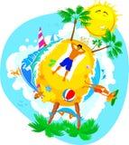 Vacaciones de verano en una playa Imagen de archivo libre de regalías