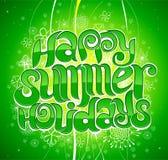 Vacaciones de verano felices Fotos de archivo libres de regalías