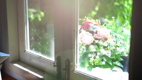 Vacaciones de verano felices Capítulo el fondo tropical con las palmeras almacen de video