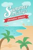 Vacaciones de verano - isla del paraíso Ilustración del Vector