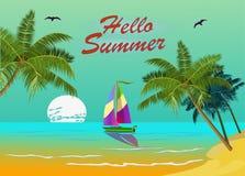 Vacaciones de verano de la bandera y diseño del viaje Foto de archivo libre de regalías