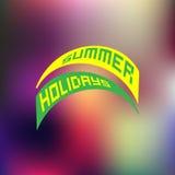 Vacaciones de verano Logo Blurred Background Fotografía de archivo