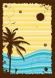 Vacaciones de verano, marco abstracto para su diseño ilustración del vector