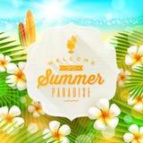 Vacaciones de verano que saludan libre illustration