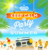 Vacaciones de verano que saludan diseño libre illustration